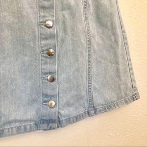 H&M Skirts - H&M | denim mini skirt button front